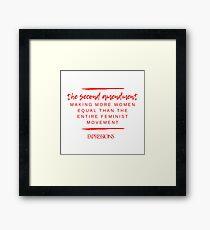 Second Amendment Equality Framed Print