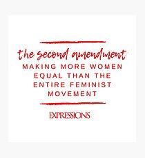 Second Amendment Equality Photographic Print