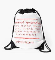 Second Amendment Equality Drawstring Bag