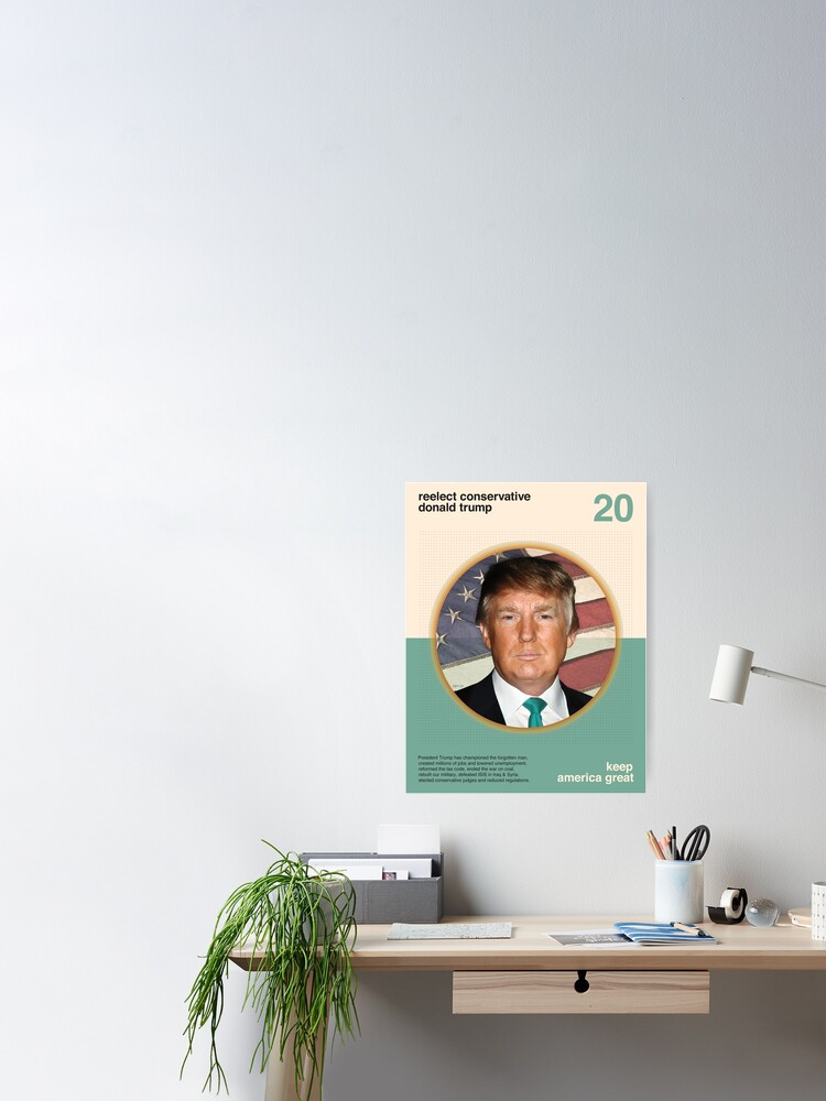 Alternate view of Reelect President Trump Poster