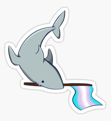 Transgender Pride Shark Sticker