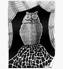 257 - THE OWL - DAVE EDWARDS - INK - 2015 Poster