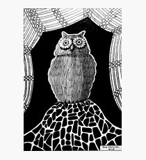 257 - THE OWL - DAVE EDWARDS - INK - 2015 Photographic Print
