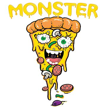 Pizza Graphic Tee | Cute Monster Pizza Shirt & Gifts by VintageInspired