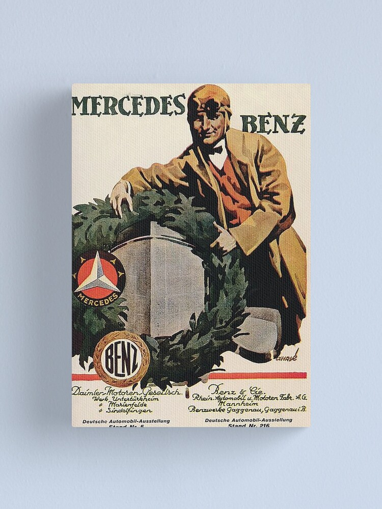 Alternate view of Benz and Daimler merger advertisement 1926 Canvas Print