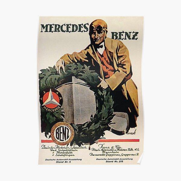Benz and Daimler merger advertisement 1926 Poster