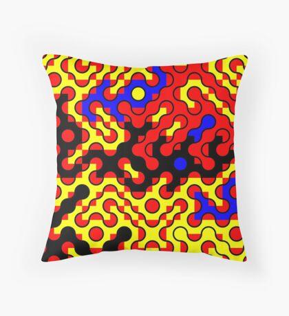Truchet Tiles v011 Throw Pillow