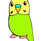 Cute Green Budgie  by parakeetart