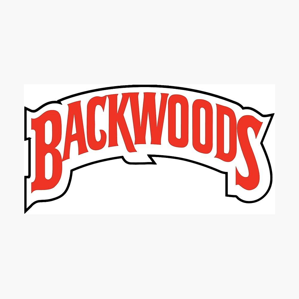 Backwoods logo stoner stickers photographic print