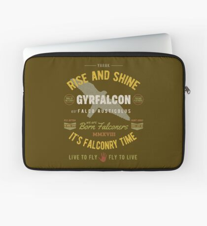 Gyrfalcon Falconry for Falconers Who Fly Gyrfalcons  Laptop Sleeve