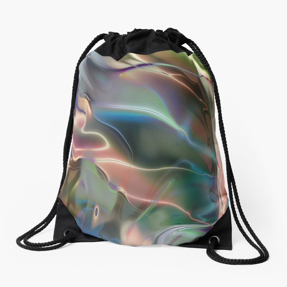 Neon Marble Drawstring Bag