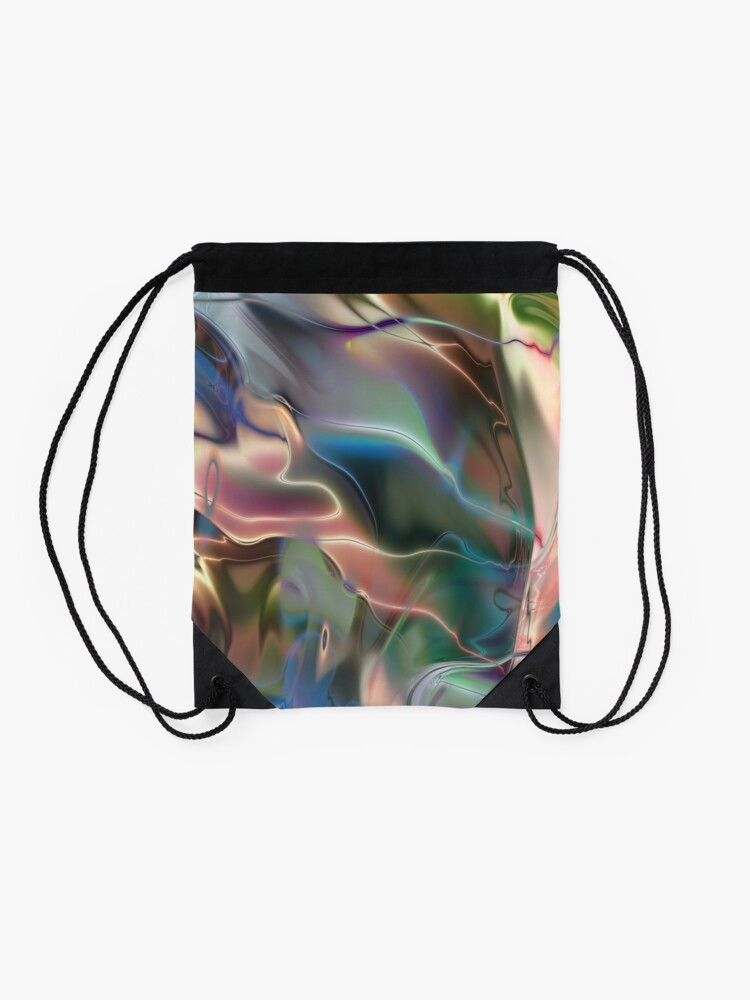 Alternate view of Neon Marble Drawstring Bag