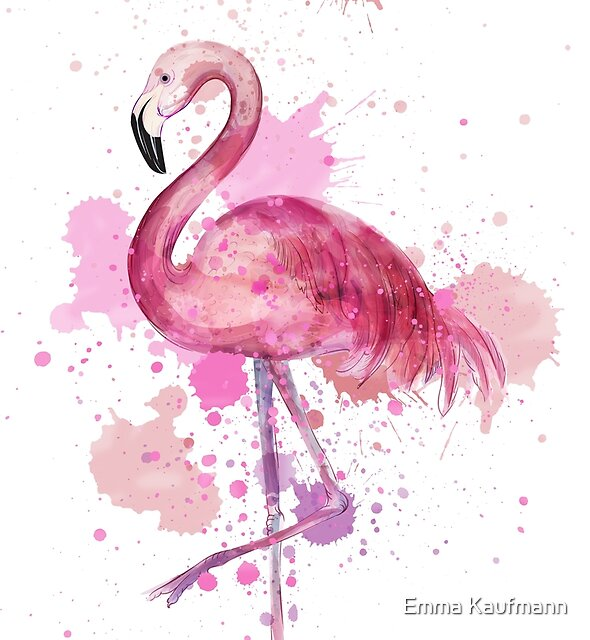 Rosa Flamingo von Emma Kaufmann