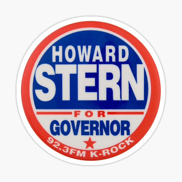 Howard Stern For Governor  Sticker