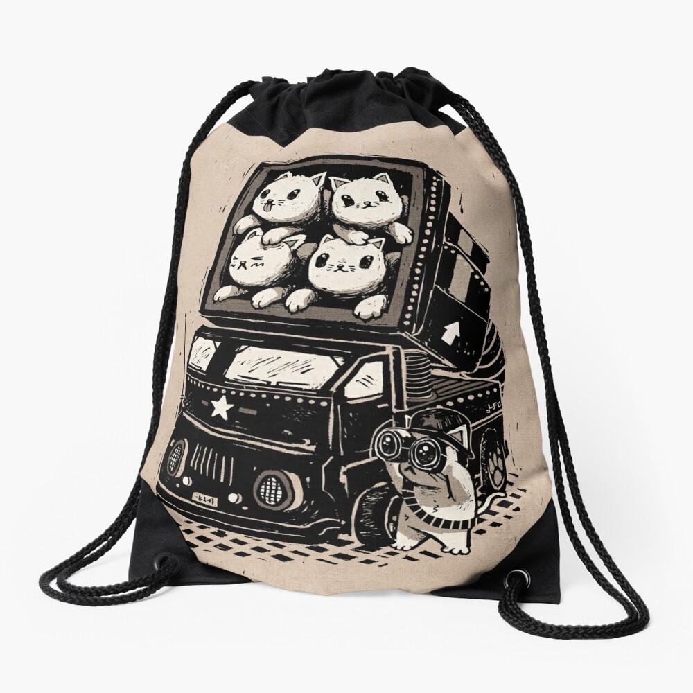 Cat Cats Drawstring Bag