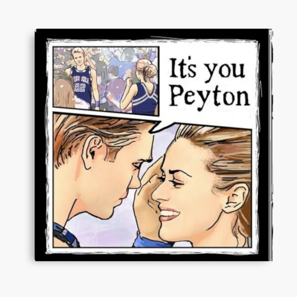 One Tree Hill Peyton and Lucas art Canvas Print