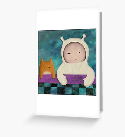 Meehoo and Space Hamster Greeting Card
