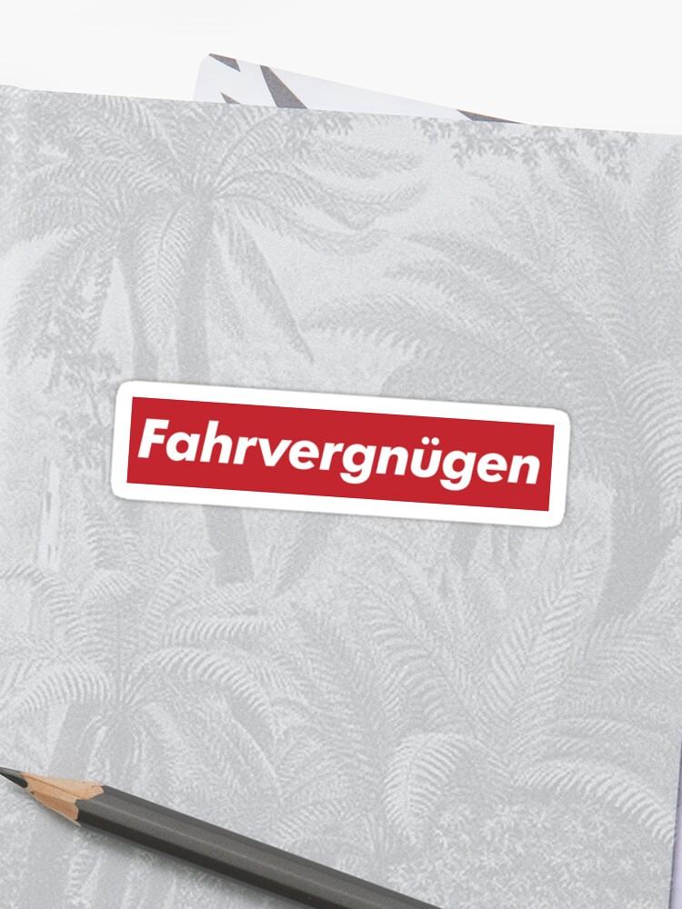 Fahrvergnügen Supreme Stickers By Averagetitan Redbubble