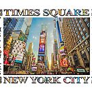 Times Square Hustle (white poster edition) by Ray Warren