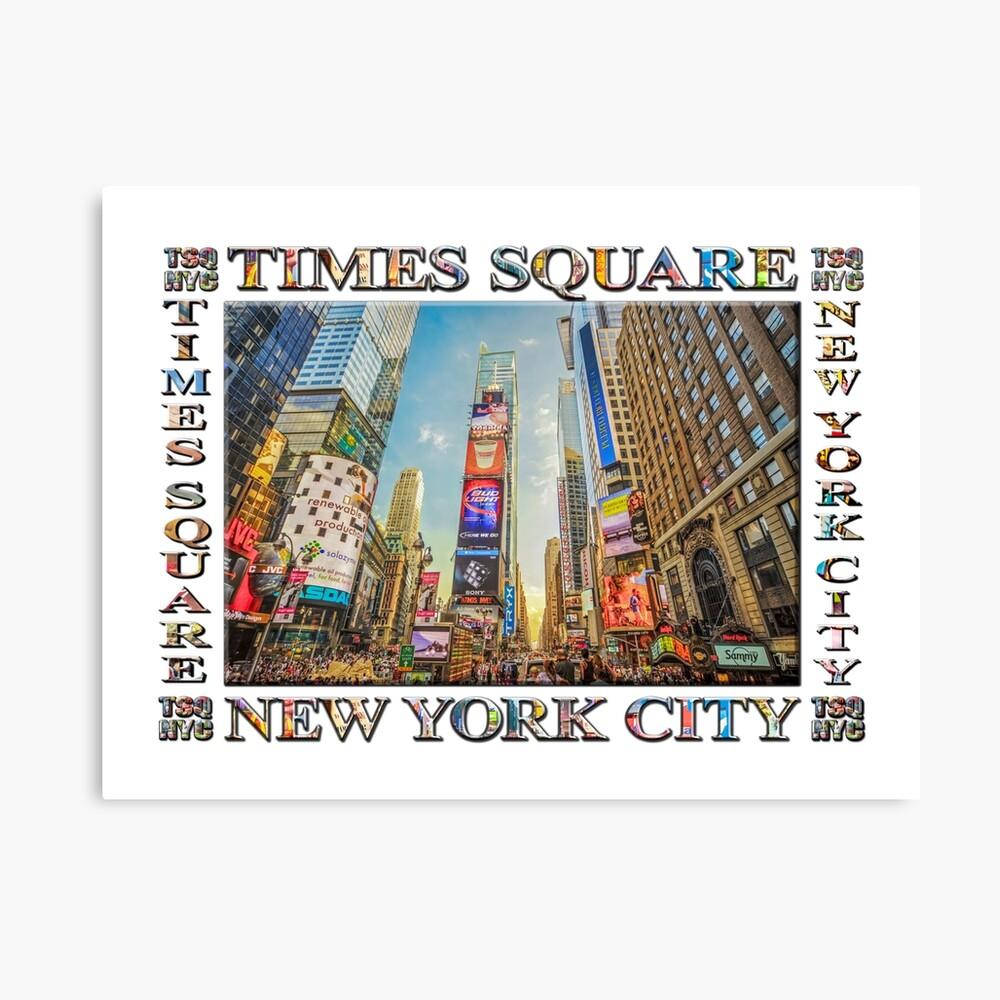 Times Square Hustle (white poster edition) Canvas Print
