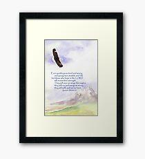 Hope & Strength, Isaiah 40:30-31  Framed Print