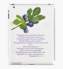 Hope - Habakkuk 3:17-19   iPad Case/Skin