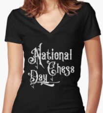 National Chess Day Women's Fitted V-Neck T-Shirt
