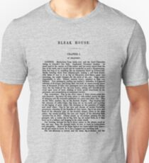 Bleak House Charles Dickens First Page Unisex T-Shirt