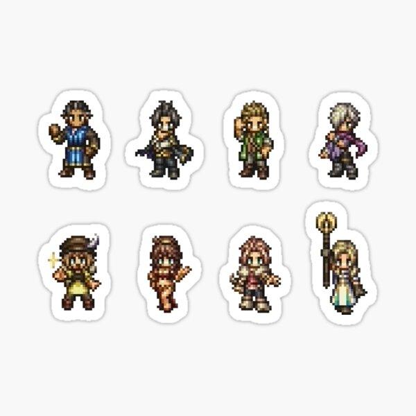 Octopath Traveler Character Sprites Sticker