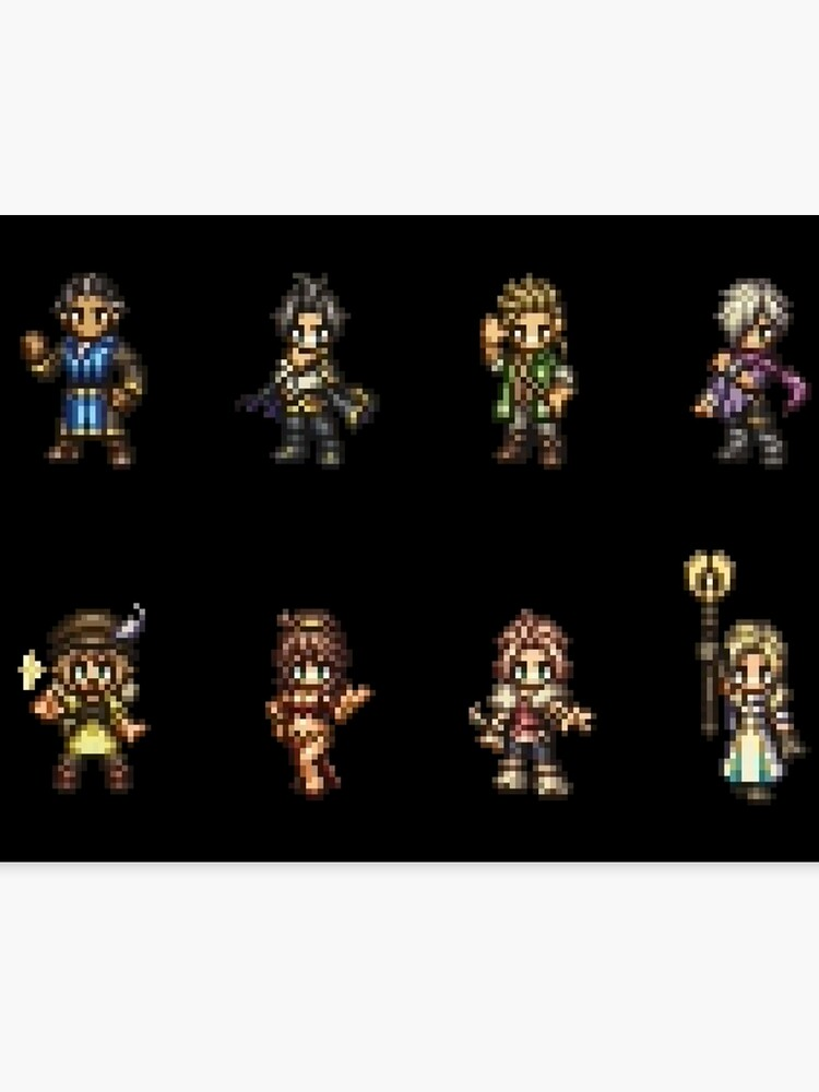 Octopath Traveler Character Sprites | Canvas Print