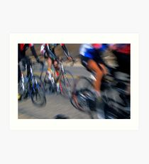 Cyclists - Redlands, California Art Print
