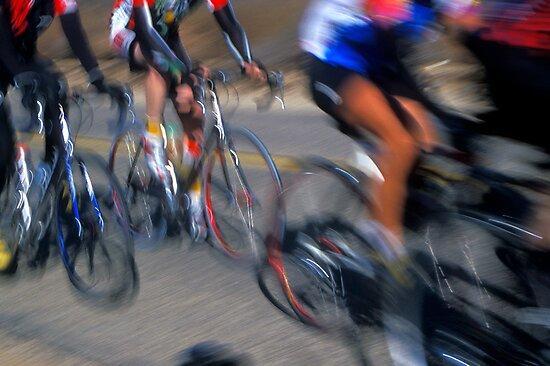 Cyclists - Redlands, California by Alex Zuccarelli