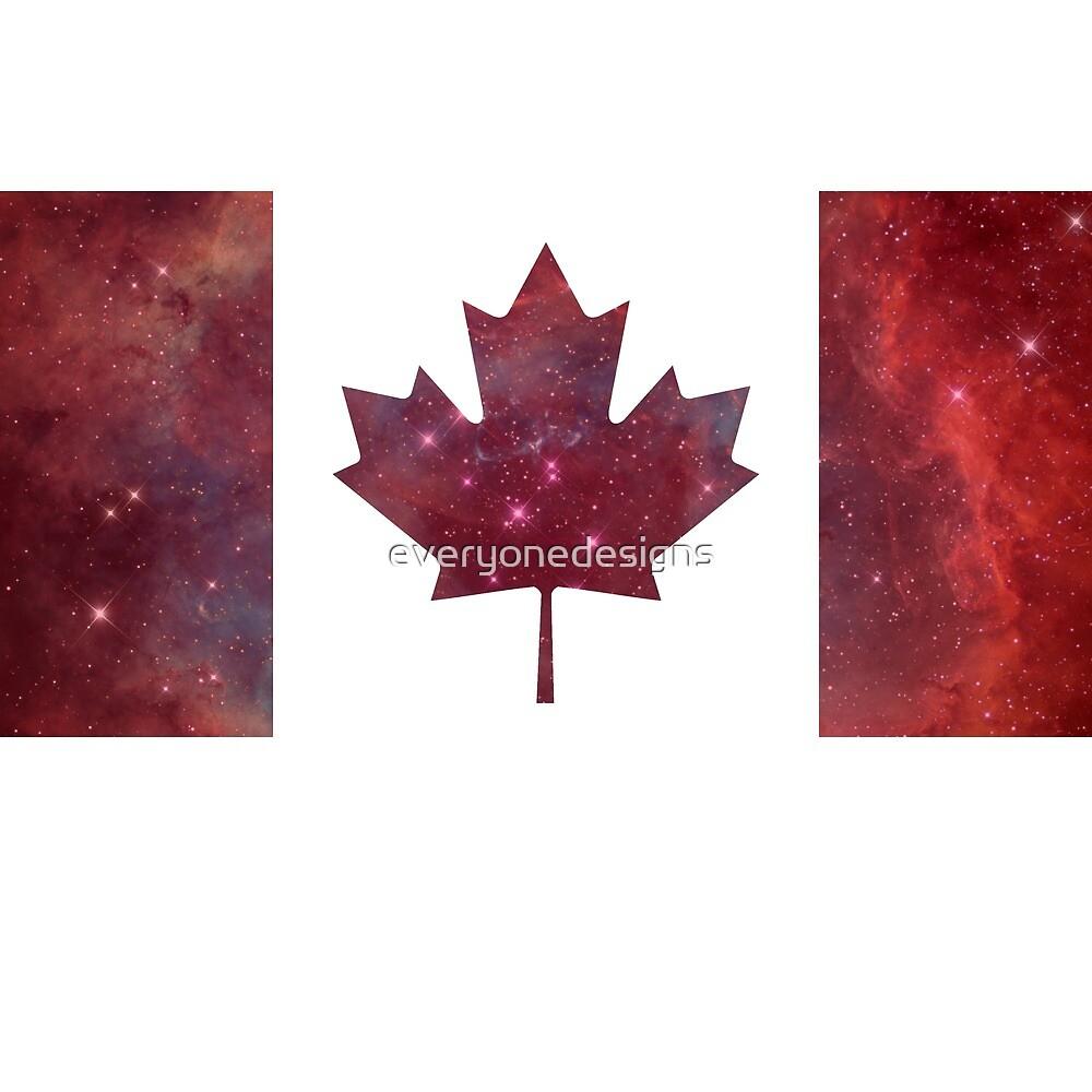 Canada Flag Nebula by everyonedesigns