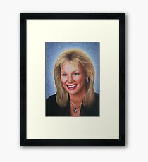 Portrait of Aunt Laurie Framed Print
