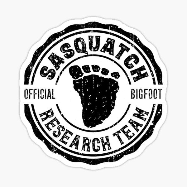 Bigfoot Sticker Research Team Sasquatch Stickers Sticker