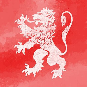 Lion Rampant Red Watercolour by GrizzlyGaz