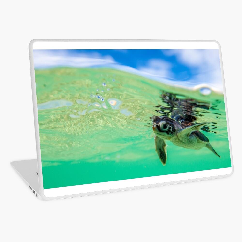 Ocean swimmer Laptop Skin