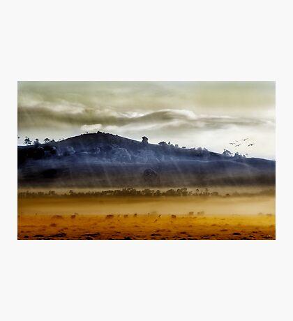 Whisps of velvet rains.... Photographic Print