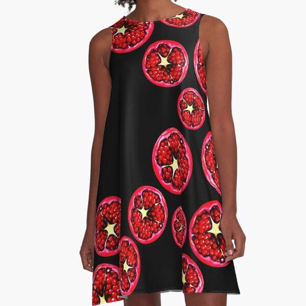 Pomegranate Pattern A-Line Dress
