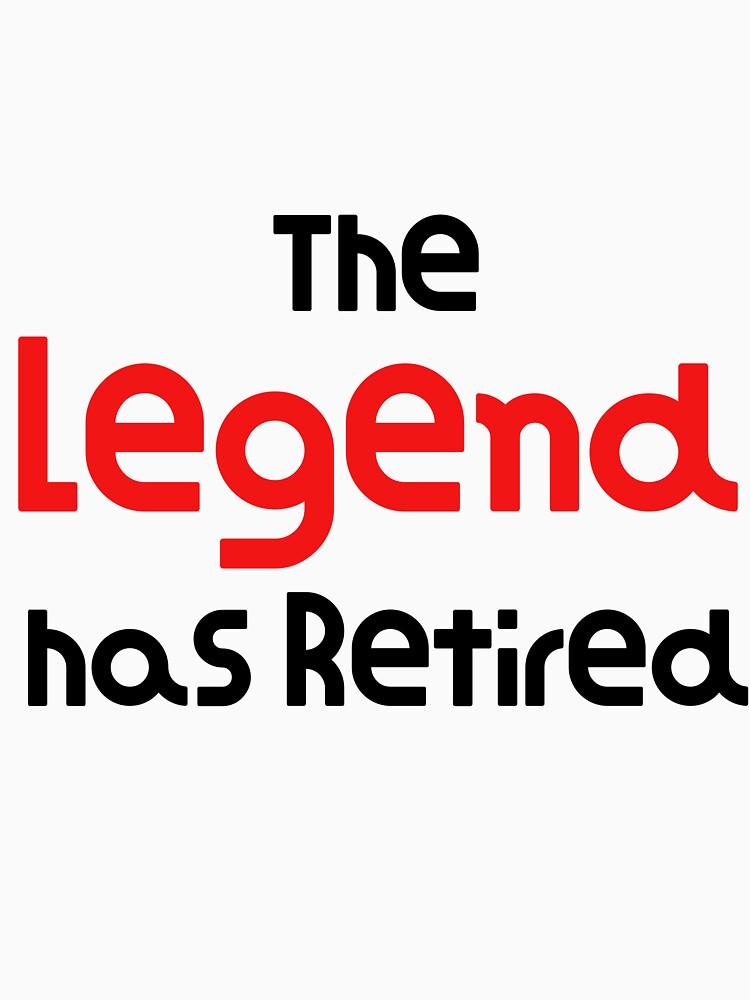La leyenda se ha retirado Hilarante regalo Idea divertido regalo de jubilación de DogBoo