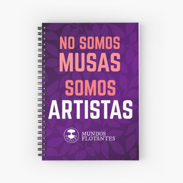 No somos musas, somos artistas - fondo púrpura Cuaderno de espiral