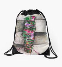 Smudge Stick Watercolor Rose, Eucalyptus and Sage Drawstring Bag