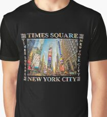 Times Square Hustle (black poster edition) Graphic T-Shirt