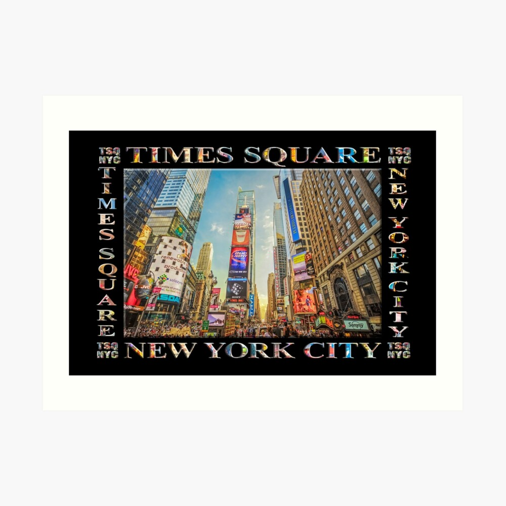 Times Square Hustle (black poster edition) Art Print