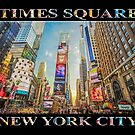 Times Square Hustle (black poster edition) by Ray Warren