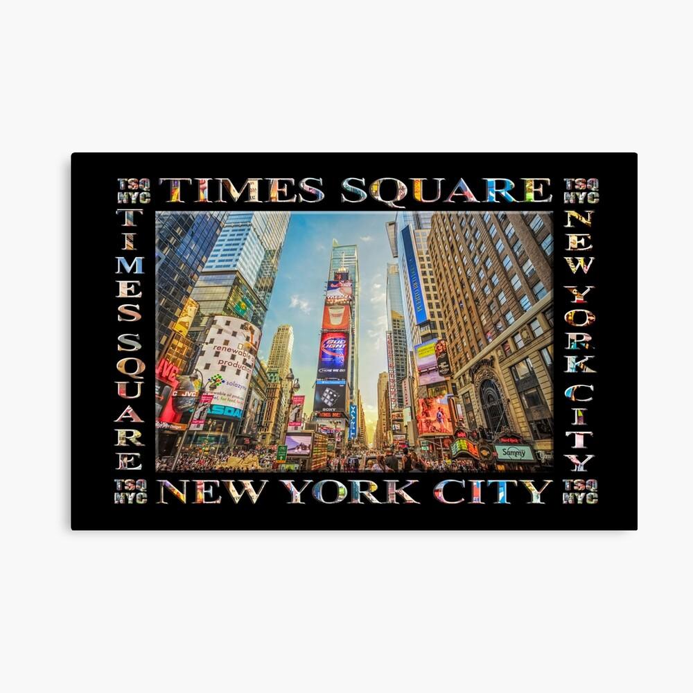 Times Square Hustle (black poster edition) Canvas Print