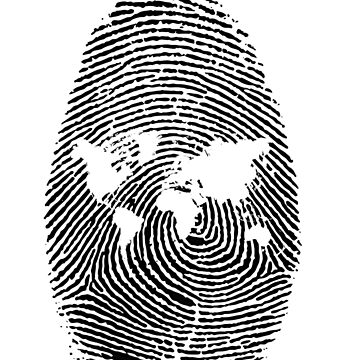 Wanderlust fingerprint map of the world  by DinksiStyle