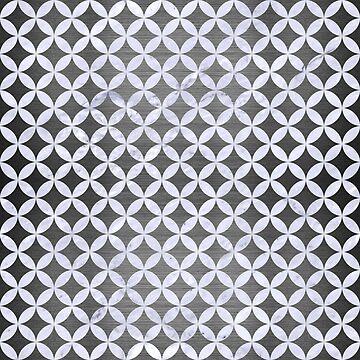 CIRCLES3 WHITE MARBLE & GRAY BRUSHED METAL by johnhunternance