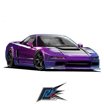 honda nsx MC purple by naquash