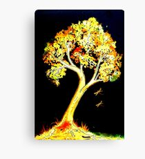 Follow the Light - Trees Canvas Print